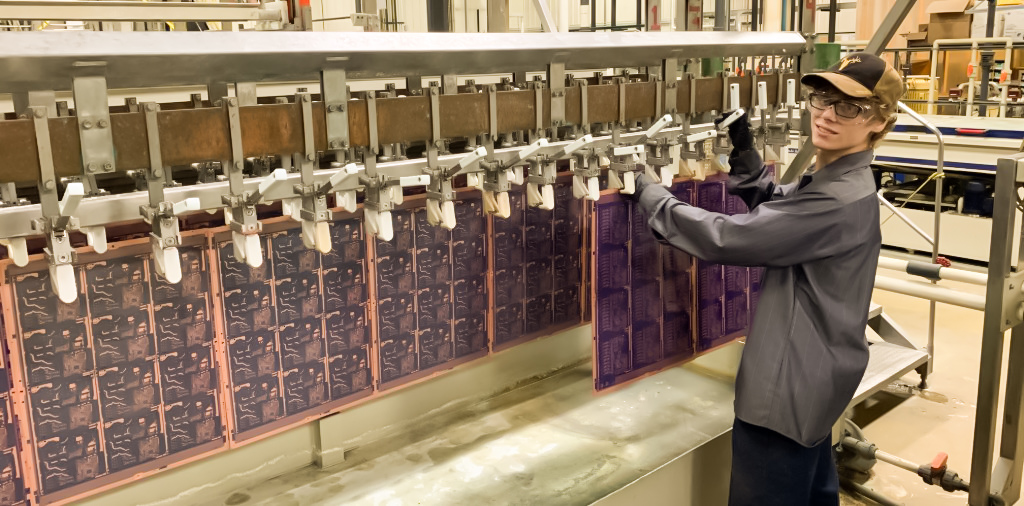 Calumet Electronics copper plating operator
